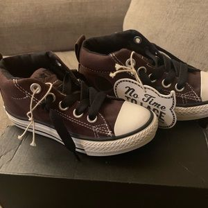 Boys High Top Brown Converse Shoes